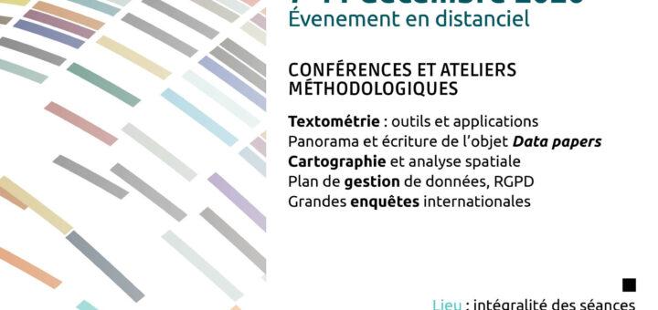 Affiche Semaine Data SHS PANELS
